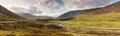 Scottish highlands panoram of the Royalty Free Stock Photography