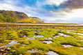 Scottish highlands typical landscape of the loch duich scotland Stock Photo