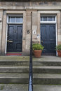 Scottish house entrace an ouse in scotland Royalty Free Stock Images