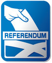 Scottish independence referendum illustration of a ballot box with the flag of the scotland Royalty Free Stock Image