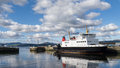 Scottish island car ferry moored on the river clyde at glasgow greenock scotland Stock Images