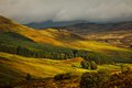Scottish landscape beautiful with colorful layers during autumn around the cairngorms scotland uk Stock Image