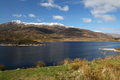 Scottish landscape - Loch Cluanie Royalty Free Stock Photo