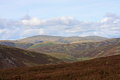Scottish lowlands hills and moors of scotland Royalty Free Stock Photo
