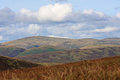 Scottish lowlands view over the hills of scotland Royalty Free Stock Images
