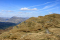 Scottish mountains from ptarmigan on ben lomond view north west the footpath approaching subsidiary top approach to in the view Royalty Free Stock Photography