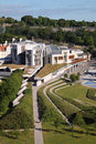 Scottish Parliament Aerial View Stock Photos