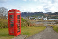 Scottish phonebox red telephone box in scotland Stock Photography