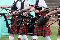 Scottish pipe band Stock Photography
