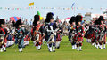 Scottish Pipes parade at Nairn Highland Games Royalty Free Stock Photo
