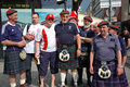 Scottish and Polish football fans Royalty Free Stock Image