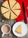 Scottish shortbread freshly baked christmas Royalty Free Stock Photo