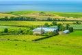 Scottish summer landscape, East Lothians, Scotland, UK Royalty Free Stock Photo