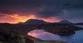 Scottish sunrise over the highlands Royalty Free Stock Photos