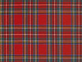Scottish tissue high resolution typical with red background Stock Image