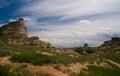 Scotts bluff nebraska in the sandhills of western part of the oregon trail Stock Photos