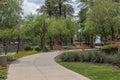 Scottsdale Arizona Waterfront District Walkway Royalty Free Stock Photo