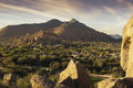 Scottsdale,Cavecreek serene majestic desert visa Royalty Free Stock Photo