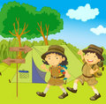 Scout guide kids Royalty Free Stock Photo