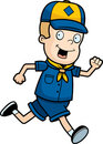 Scout Running Royalty Free Stock Image