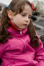 Scowled girl Royalty Free Stock Images