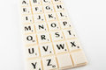 Scrabble aplhabet the alphabet blocks tiles from Royalty Free Stock Image