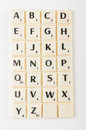 Scrabble aplhabet the alphabet blocks tiles from Royalty Free Stock Images