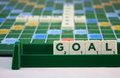 Scrabble goal word in game Stock Images