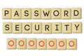 Scrabble: password security Stock Images