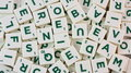 Scrabble pieces Royalty Free Stock Photo