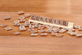 Scrabble pieces spelling confused Royalty Free Stock Photo