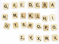 Scrabble wood letter blocks Royalty Free Stock Image
