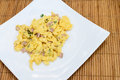 Scramble egg the on the dish Royalty Free Stock Photos