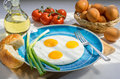 Scrambled Eggs and Ingredients Royalty Free Stock Photo