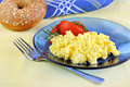 Scrambled eggs with tomatoes Stock Photos