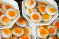 Scrambled quail eggs at the eastern market close up Stock Photography