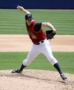 Scranton wilkes barre railriders cody eppley pitches Royalty Free Stock Images