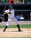 Scranton Wilkes Barre Yankees batter Jesus Montero Royalty Free Stock Photos