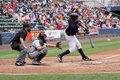 Scranton Wilkes Barre Yankees batter Jesus Montero Stock Photography