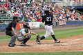 Scranton wilkes barre yankees batter jesus montero swings Stock Photo