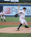 Scranton wilkes barre yankees greg smith throws a pitch Royalty Free Stock Photography