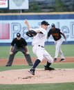 Scranton wilkes barre yankees greg smith throws a pitch Stock Image
