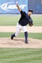 Scranton wilkes barre yankees pitcher george kontos fires a pitch Stock Images