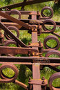 Scrap agricultural tool rusty old industrial Stock Photography