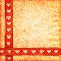 Scrap-book van de valentijnskaart achtergrond Royalty-vrije Stock Foto