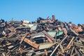 Scrap heap with metal scrap Royalty Free Stock Photo