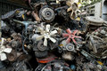 Scrap metal from car engine Royalty Free Stock Image