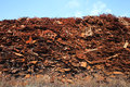 Scrap metal pile of at a recycling facility Royalty Free Stock Photography