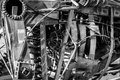 Scrap metal welded together assorted junk and painted in monochrome Royalty Free Stock Photos