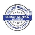 Scrap metal workers - We are hiring - printable labled